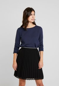 TOM TAILOR DENIM - STRUCTURED - Long sleeved top - real navy blue - 0