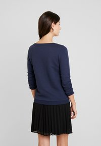 TOM TAILOR DENIM - STRUCTURED - Long sleeved top - real navy blue - 2