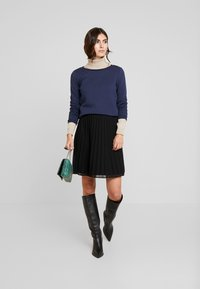 TOM TAILOR DENIM - STRUCTURED - Long sleeved top - real navy blue - 1