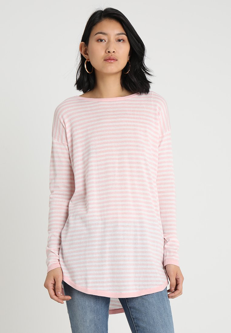 TOM TAILOR DENIM - EASY LONG  - Strickpullover - blush pink