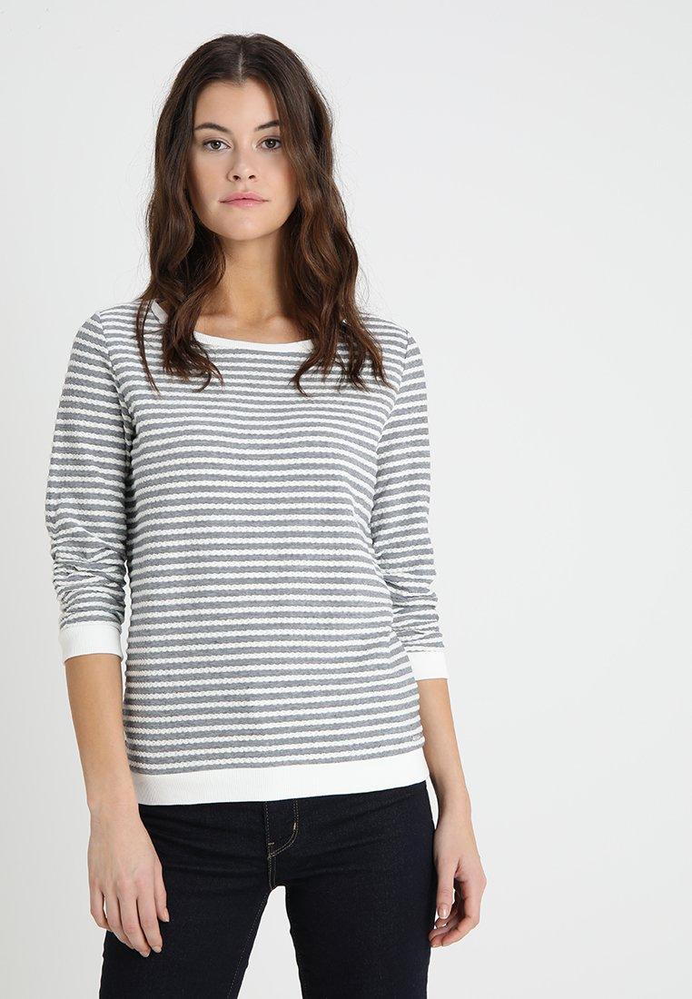TOM TAILOR DENIM - STRIPED - Sweatshirt - structure white