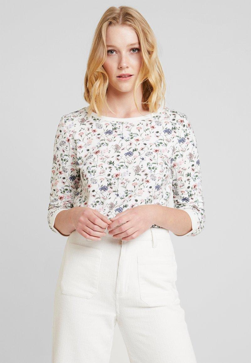 TOM TAILOR DENIM - FLOWER  - Sweatshirt - off white