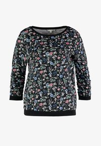 TOM TAILOR DENIM - FLOWER  - Sweatshirt - black - 3