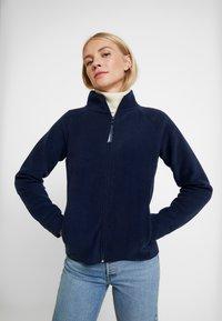 TOM TAILOR DENIM - JACKET - Fleecová bunda - real navy blue - 0