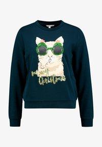 TOM TAILOR DENIM - CHRISTMAS - Sweatshirt - sapphire green - 4