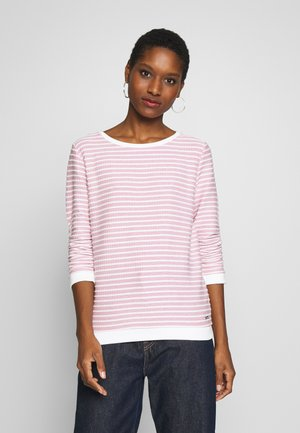 STRIPED - Long sleeved top - rose structure