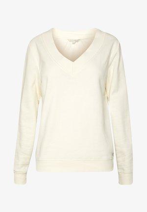 BASIC V-NECK SWEATER - Sweatshirt - gardenia white
