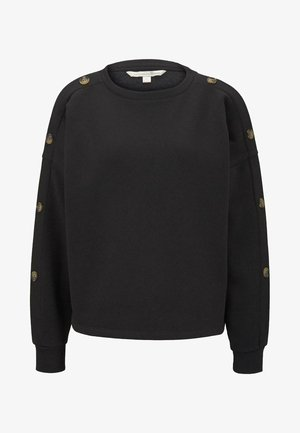 MIT KNÖPFEN - Sweater - deep black