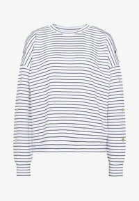 TOM TAILOR DENIM - BUTTON PANELS - Long sleeved top - navy / offwhite - 3