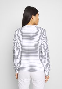TOM TAILOR DENIM - BUTTON PANELS - Long sleeved top - navy / offwhite - 2