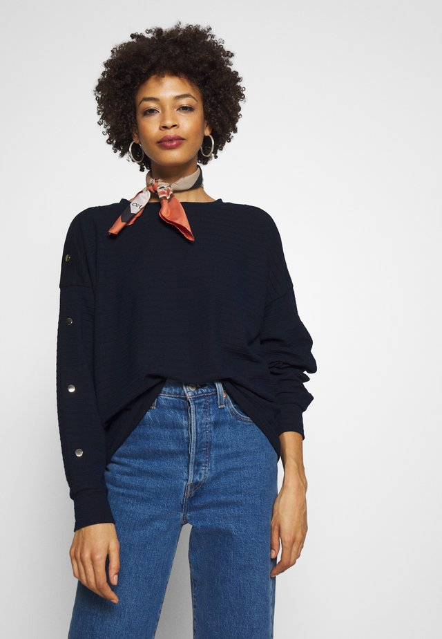BUTTON PANELS - Long sleeved top - real navy blue
