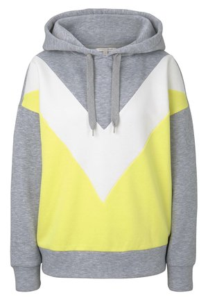STRICK & SWEATSHIRTS KAPUZEN SWEATSHIRT MIT COLORBLOCKING - Sweat à capuche - canary light