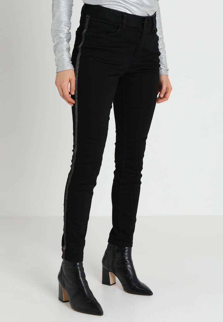 TOM TAILOR DENIM - NELA WITH EMBRO - Jeans Skinny Fit - black denim