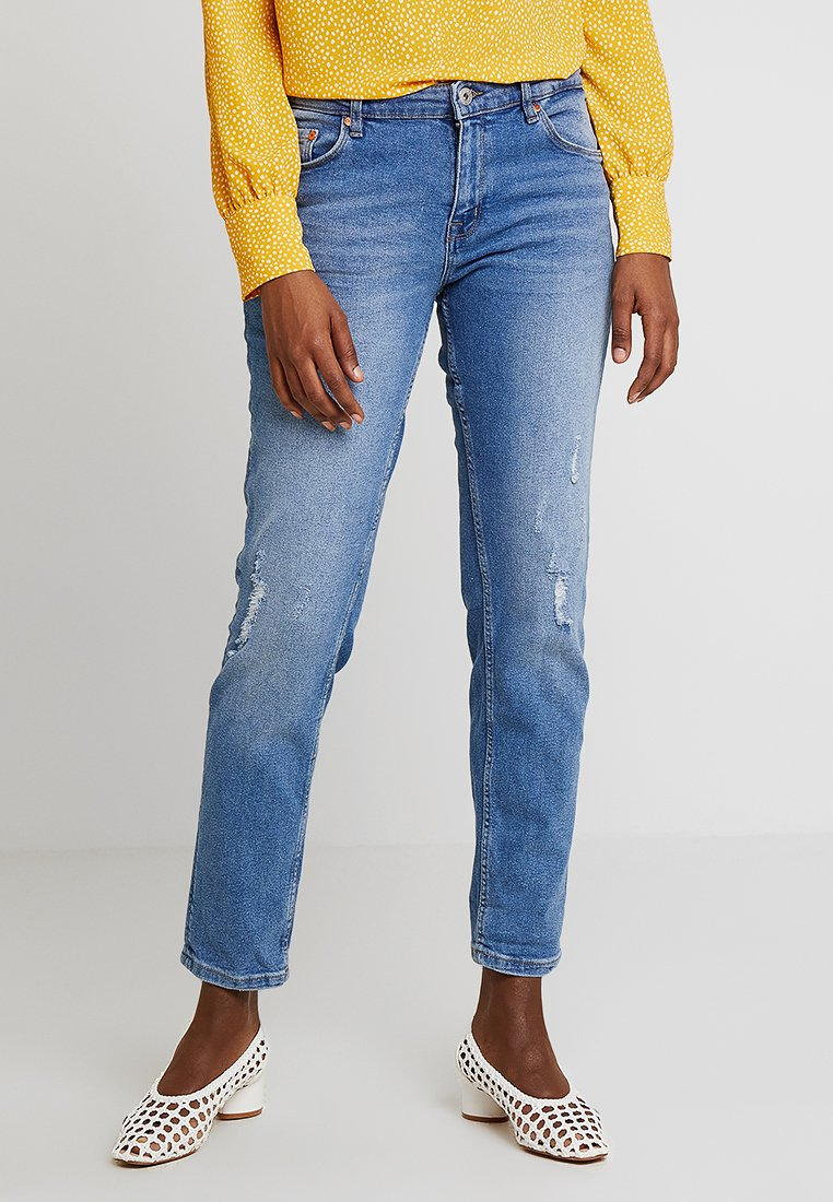 TOM TAILOR DENIM - LIVA - Jeans relaxed fit - mid stone wash denim/blue