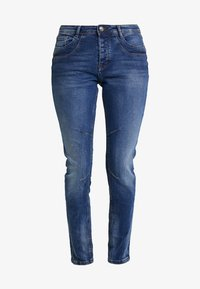 TOM TAILOR DENIM - LYNN - Jeans Relaxed Fit - moon wash mid blue denim - 3