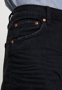 TOM TAILOR DENIM - A SHAPE HIGHWAIST - Shorts di jeans - dark stone/black denim - 4