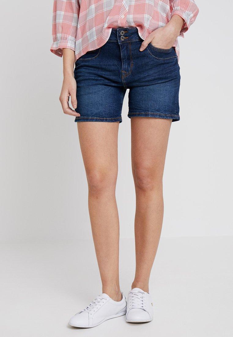 TOM TAILOR DENIM - CAJSA - Shorts di jeans - dark stone wash denim blue