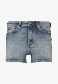 TOM TAILOR DENIM - MIT PUSH UP EFFECT - Shorts di jeans - moon wash mid blue denim - 6
