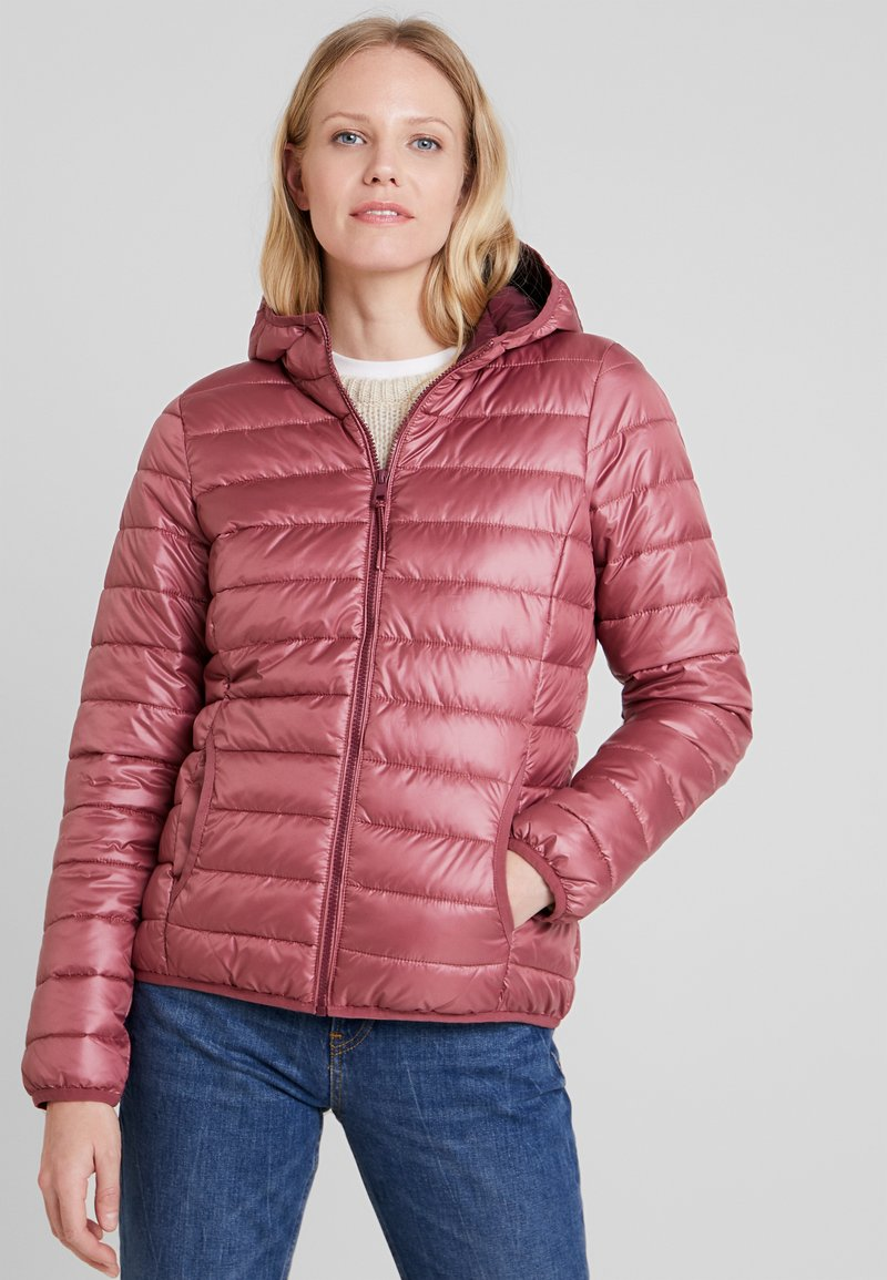TOM TAILOR DENIM - HOODED PUFFER - Übergangsjacke - renaissance rose/red