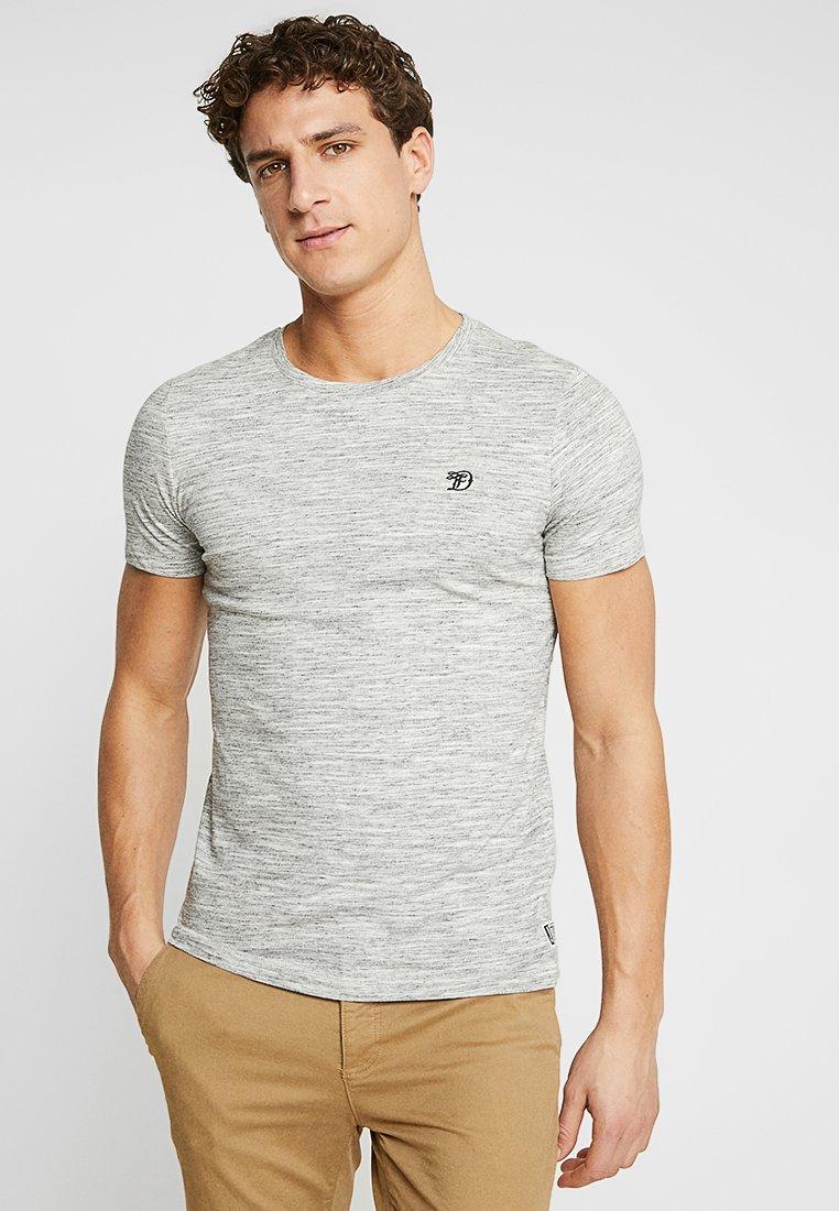 TOM TAILOR DENIM - Basic T-shirt - ecru/new space dye white