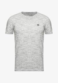 TOM TAILOR DENIM - Basic T-shirt - ecru/new space dye white - 3