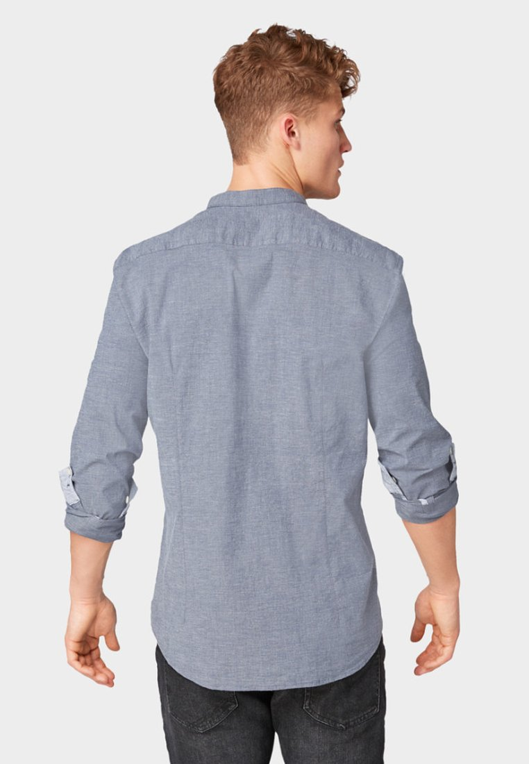 Mit Tom Tailor Denim Blue BrusttascheChemise grey kiOPuXZ