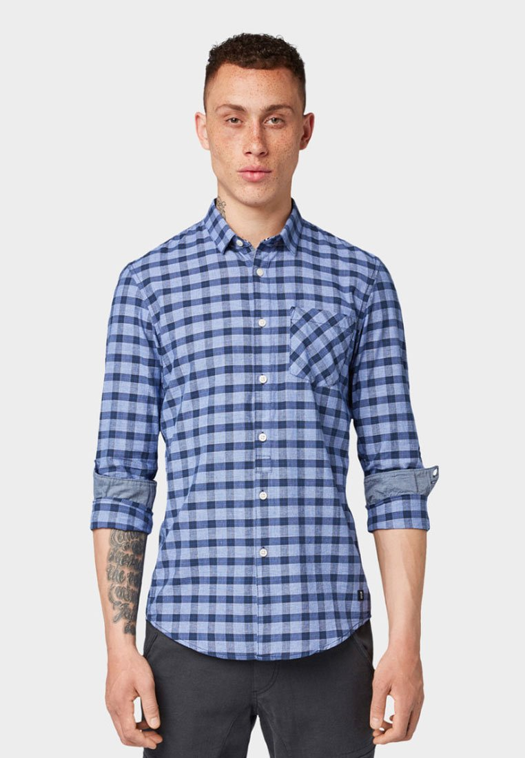 TOM TAILOR DENIM - Shirt - navy blue
