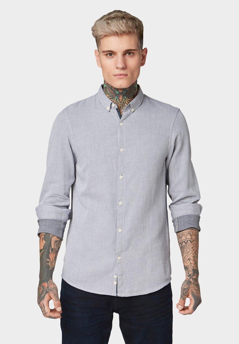 TOM TAILOR DENIM - STRUKTURIERTES  - Shirt - white