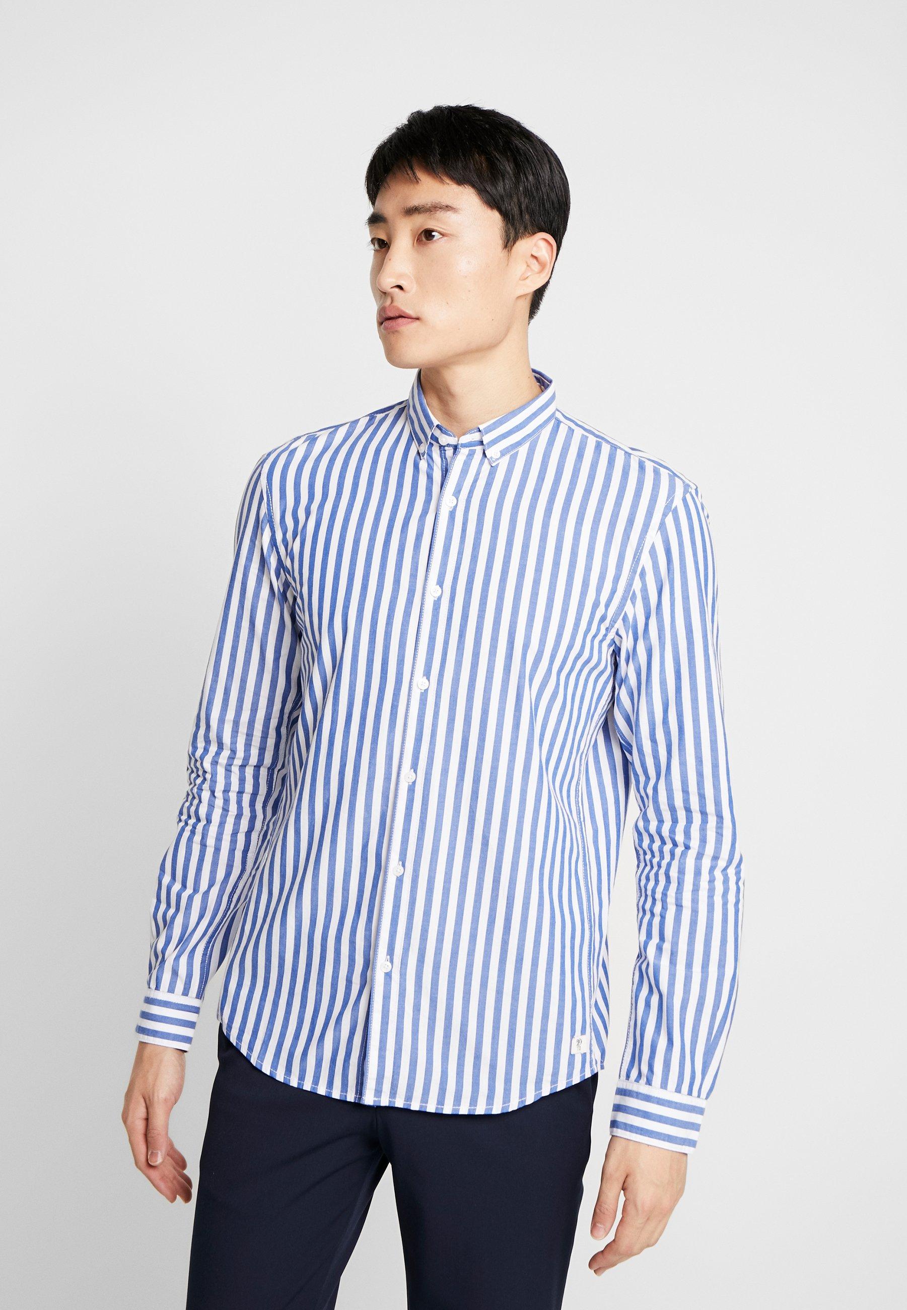 TOM TAILOR DENIM CHECK AND STRIPE SHIRTS - Koszula - white blue bold stripe