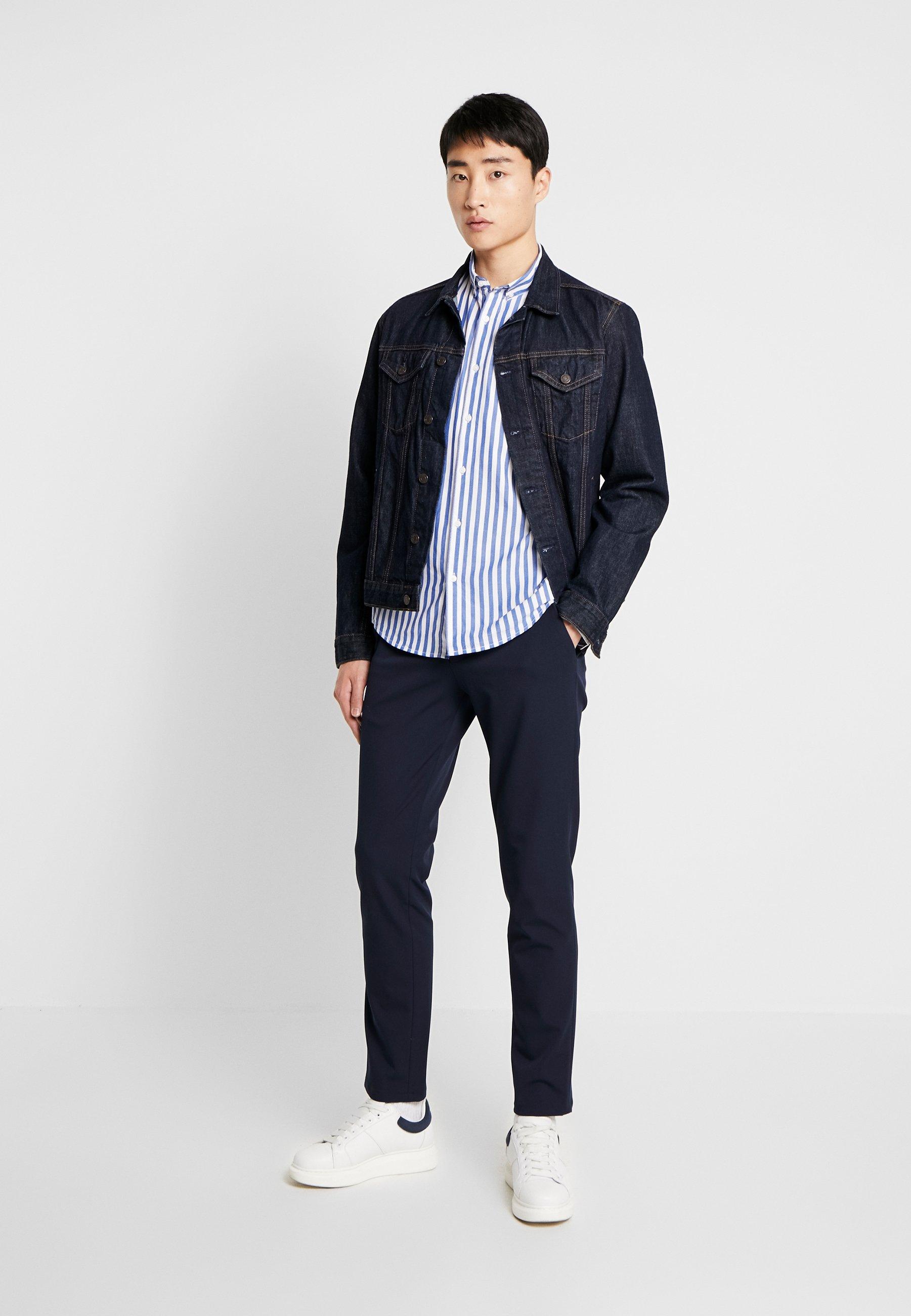 Tom Tailor Denim Check And Stripe Shirts - Skjorter White Blue Bold