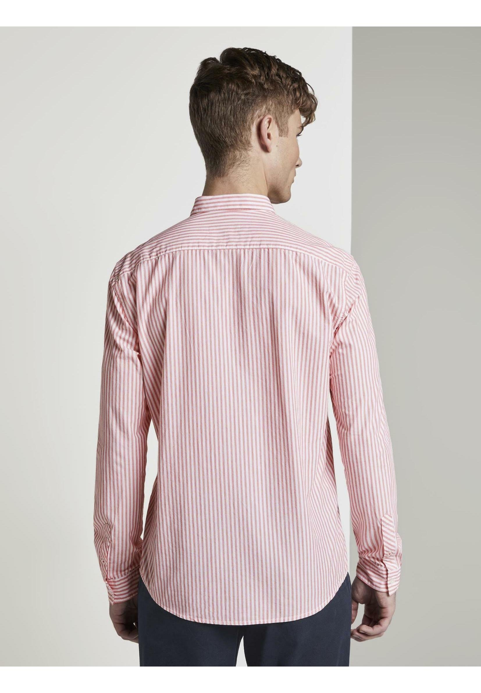 TOM TAILOR DENIM CHECK AND STRIPE SHIRTS - Chemise - red/white