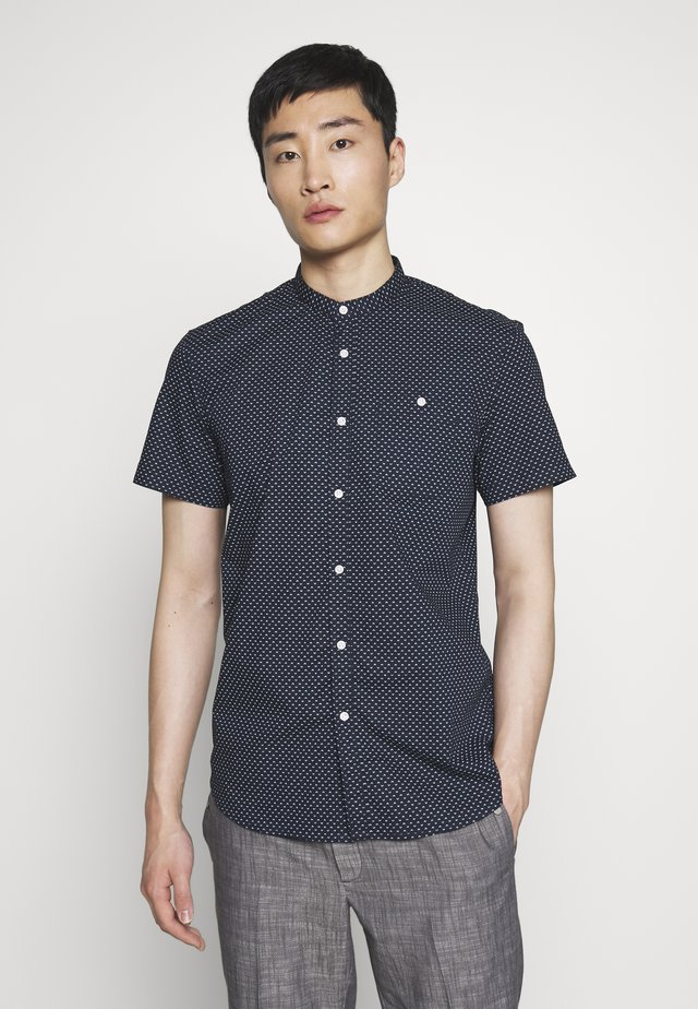 STAND UP COLLAR SHIRT - Shirt - dark blue