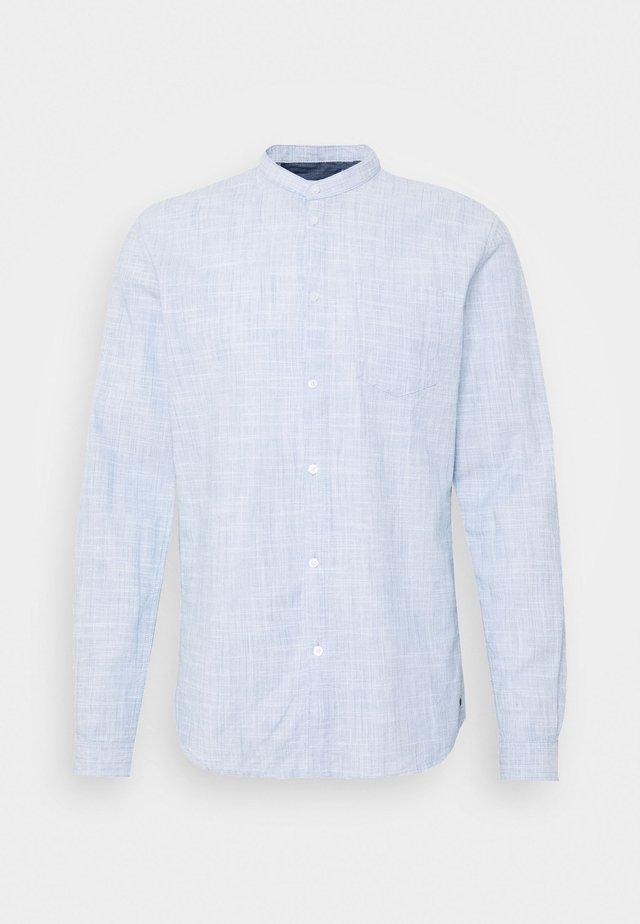 COTTON SLUB SHIRT WITH TURN UP - Skjorta - blue younder
