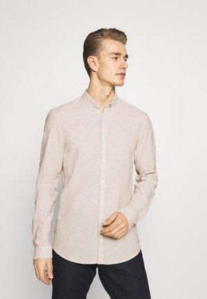 LONGSLEEVE - Shirt - fog beige/white