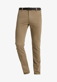 TOM TAILOR DENIM - WITH BELT PANTS - Kangashousut - honey camel beige - 4