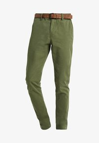 TOM TAILOR DENIM - SLIM CHINO WITH BELT - Chinot - cedar green - 4