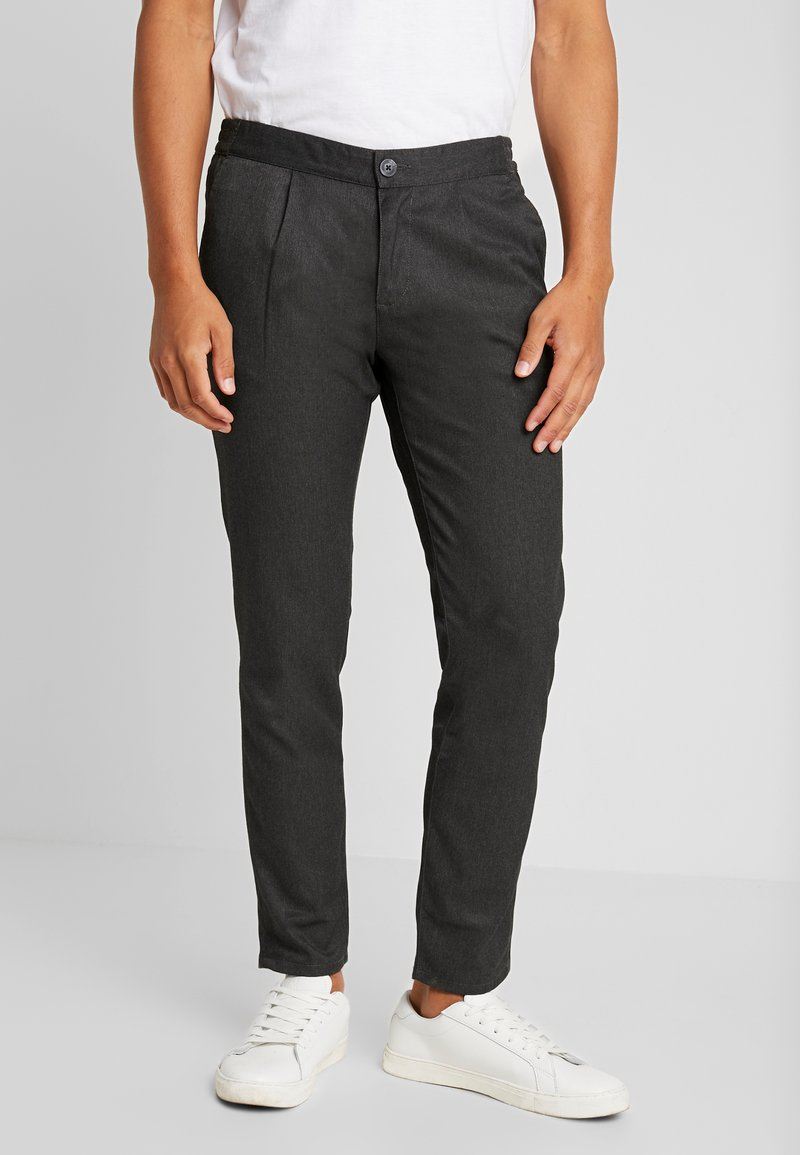 TOM TAILOR DENIM - CROPPED JOGGERFIT - Trousers - deep space melange