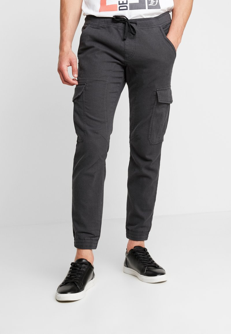 TOM TAILOR DENIM - JOGGER STRUCTURED - Cargobyxor - grey