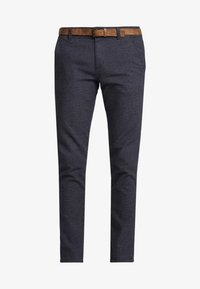 TOM TAILOR DENIM - STRUCTURED - Chino - navy grindel - 4
