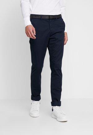 SLIM PRINTED - Chinot - navy blue