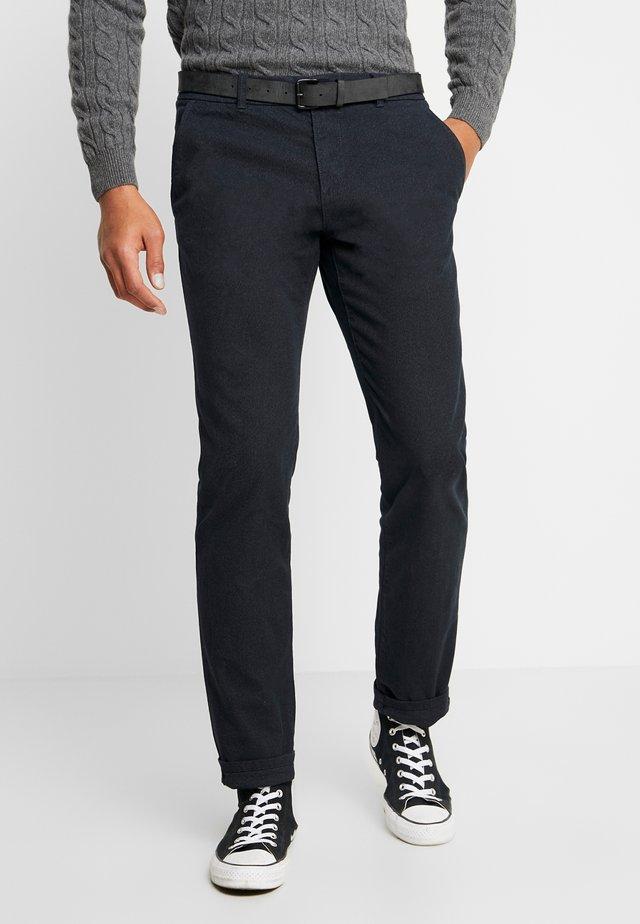 STRAIGHT WINTER YARN DYE - Trousers - grey