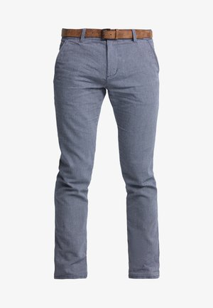 STRUCTURED - Pantalones chinos - blue
