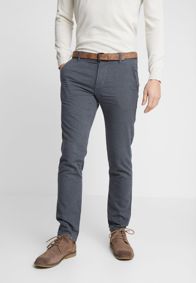 STRUCTURED - Chino kalhoty - black/grey
