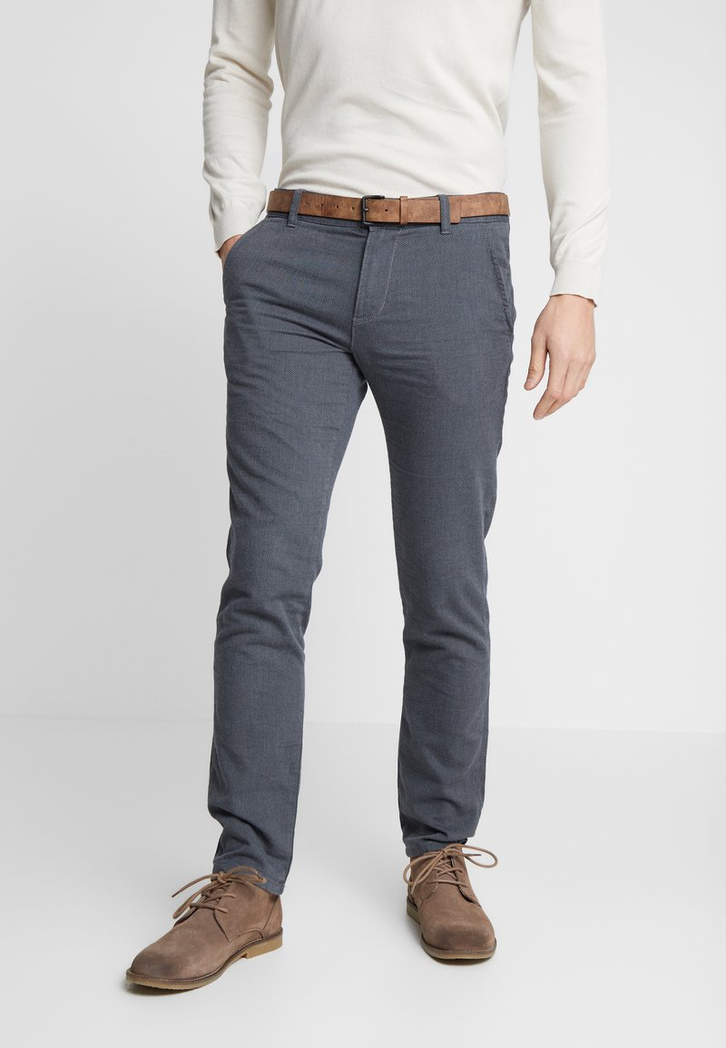 TOM TAILOR DENIM - STRUCTURED - Chinos - black/grey