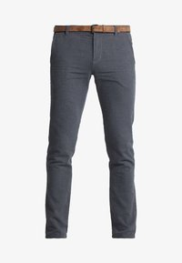 TOM TAILOR DENIM - STRUCTURED - Chinos - black/grey - 4