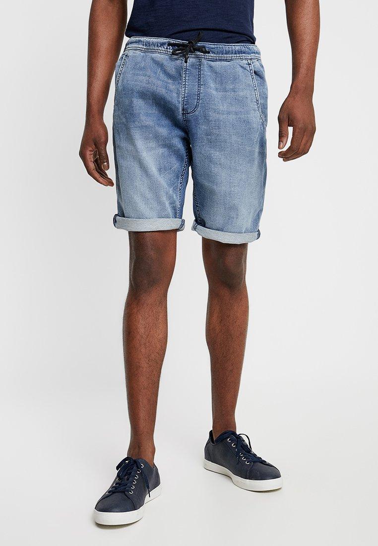 TOM TAILOR DENIM - Denim shorts - acid washed blue denim