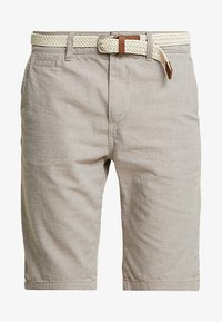 TOM TAILOR DENIM - WITH BELT - Kraťasy - chinchilla brown - 4
