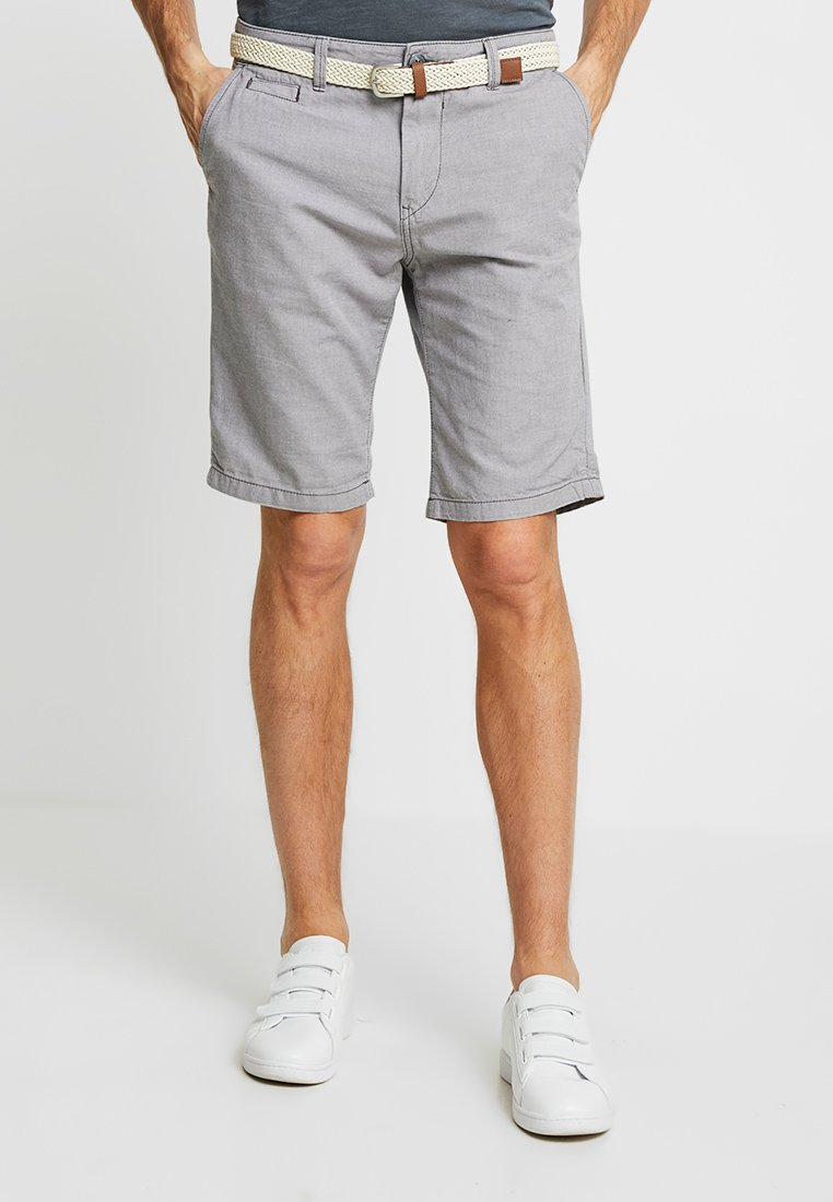 TOM TAILOR DENIM - WITH BELT - Shorts - eiffel tower grey
