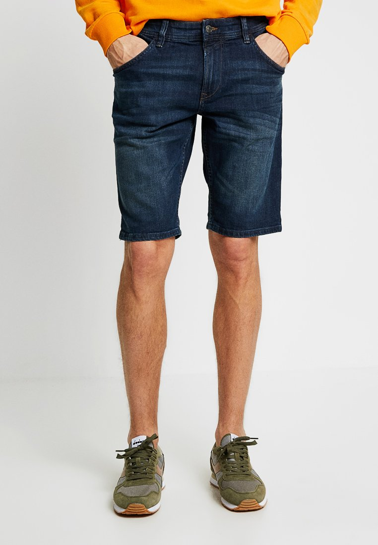 TOM TAILOR DENIM - REGULAR FIT - Jeans Shorts - dark stone wash denim