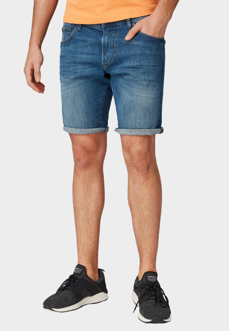 TOM TAILOR DENIM - Denim shorts - blue